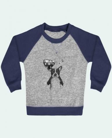 Sweatshirt Baby crew-neck sleeves contrast raglan my_heart_goes_boom by Balàzs Solti