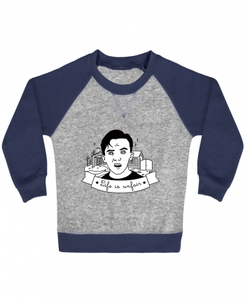 Sweatshirt Baby crew-neck sleeves contrast raglan Malcolm in the middle by tattooanshort