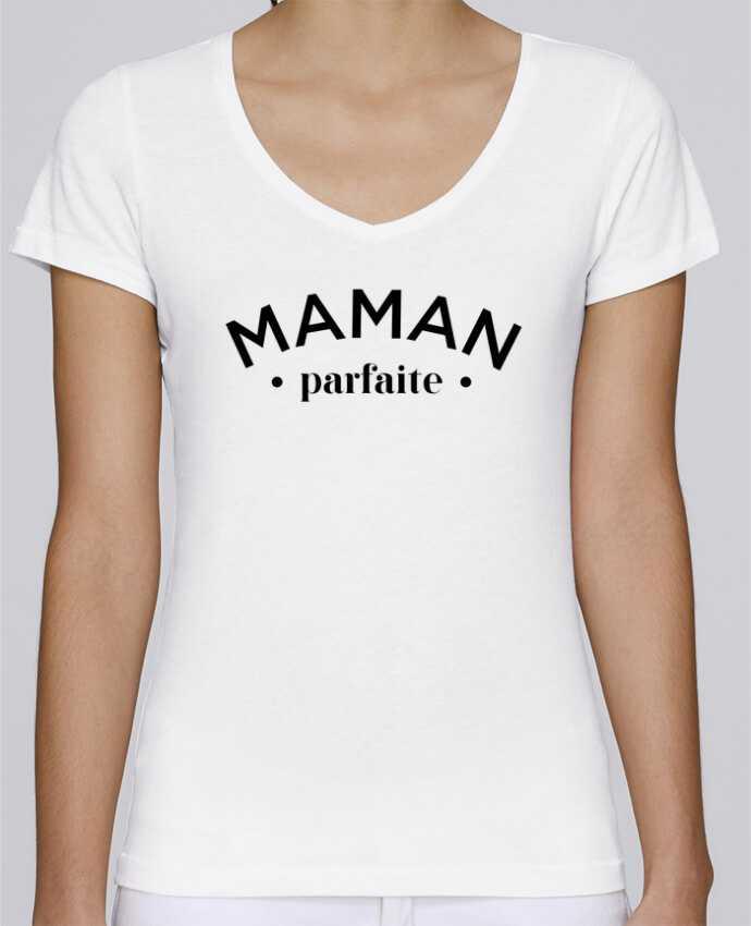 T-Shirt V-Neck Women Stella Chooses Maman byfaite by tunetoo