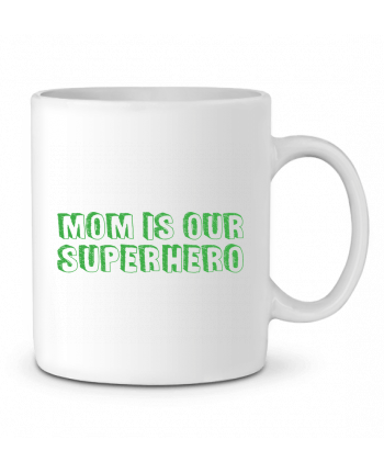 Ceramic Mug Mom is our superhero by tunetoo