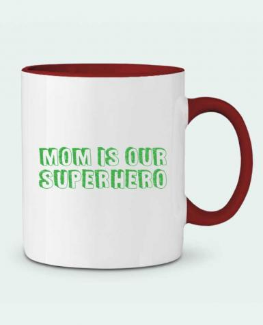 Two-tone Ceramic Mug Mom is our superhero tunetoo