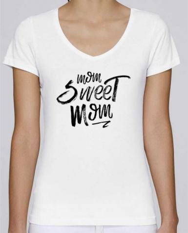 T-Shirt V-Neck Women Stella Chooses Mom sweet mom by tunetoo
